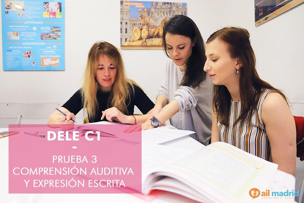 """DELE C1 – Prueba 3 Consejos y estrategias para la comprensión auditiva y expresión escrita : """"Antes de redactar, debes escuchar»."""