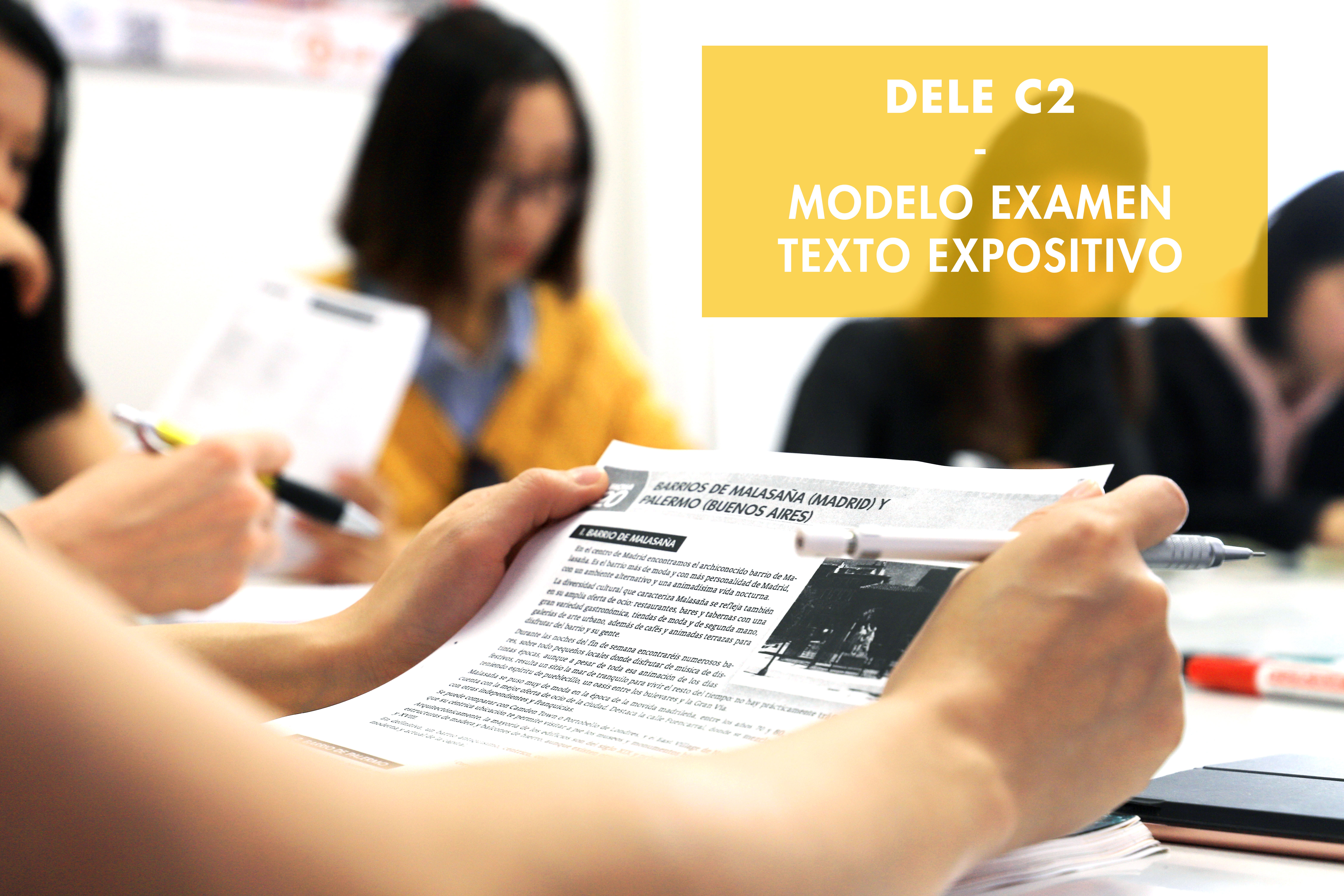 Dele C2 Modelo Texto Expositivo Informe Ail Madrid